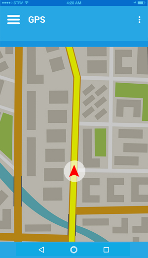 GPS position on map