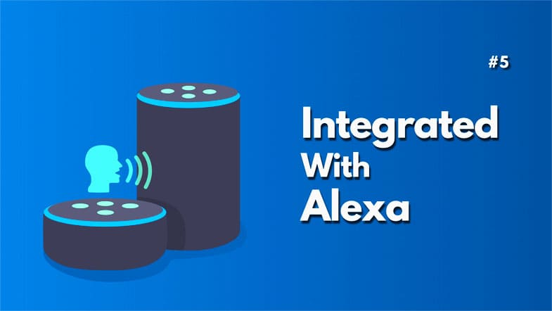 Integrated with alexa