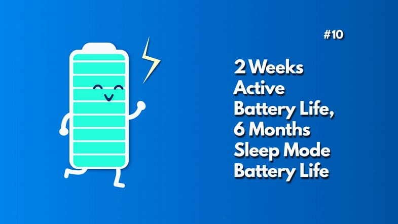 2weeks battery life