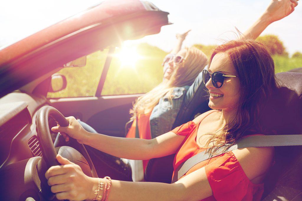 Girl driving Family1st